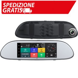 Car Mirror GPS Android 5.0 6.86 INCH HD 1080P GPS Navigation with G-SENSOR Rear View Camera Bluetooth WIFI FM GPS Auto