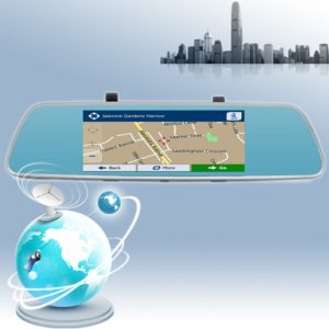 Mirror GPS Navigation 6.86 INCH Android 5.0 1080P Car Navigation Android Two Camera with G-SENSOR WIFI FM with Bluetooth 1