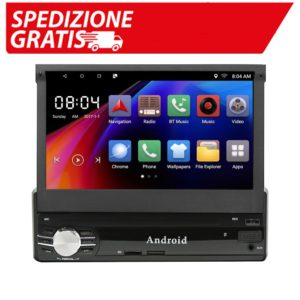 Autoradio a scomparsa carrello 1 din Android 8.1 / 6.0 Single Din Car Stereo 1G+16G / 2G+16G 7