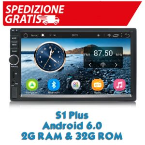 Autoradi S1 Plus 2 Din Android Car Radio GPS 2G 32G Android 6.0 Car Radio 2din with Bluetooth 7 inch Double Din Android Per Kia