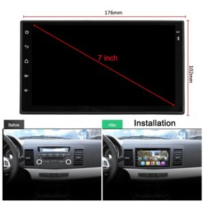 Autoradio S6 2 Din Android 8.1 Car Stereo 1080P 7 Inch Quad Core  Per Nissan Toyota 8.1 1
