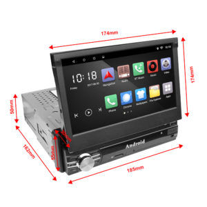 Autoradio a scomparsa carrello 1 din Android 8.1 / 6.0 Single Din Car Stereo 1G+16G / 2G+16G 7 1